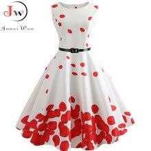 Vestido de verano 2019 con estampado Floral Retro Vintage 1950s 60s Vestido de fiesta informal de la Oficina Rockabilly vestidos de talla grande Vestido de Mujer