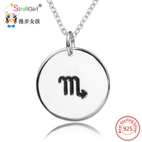 925 Sterling Silver Scorpio 12 Constellations Personality Customize Letter Necklaces Pendants Necklace For Women S Accessories