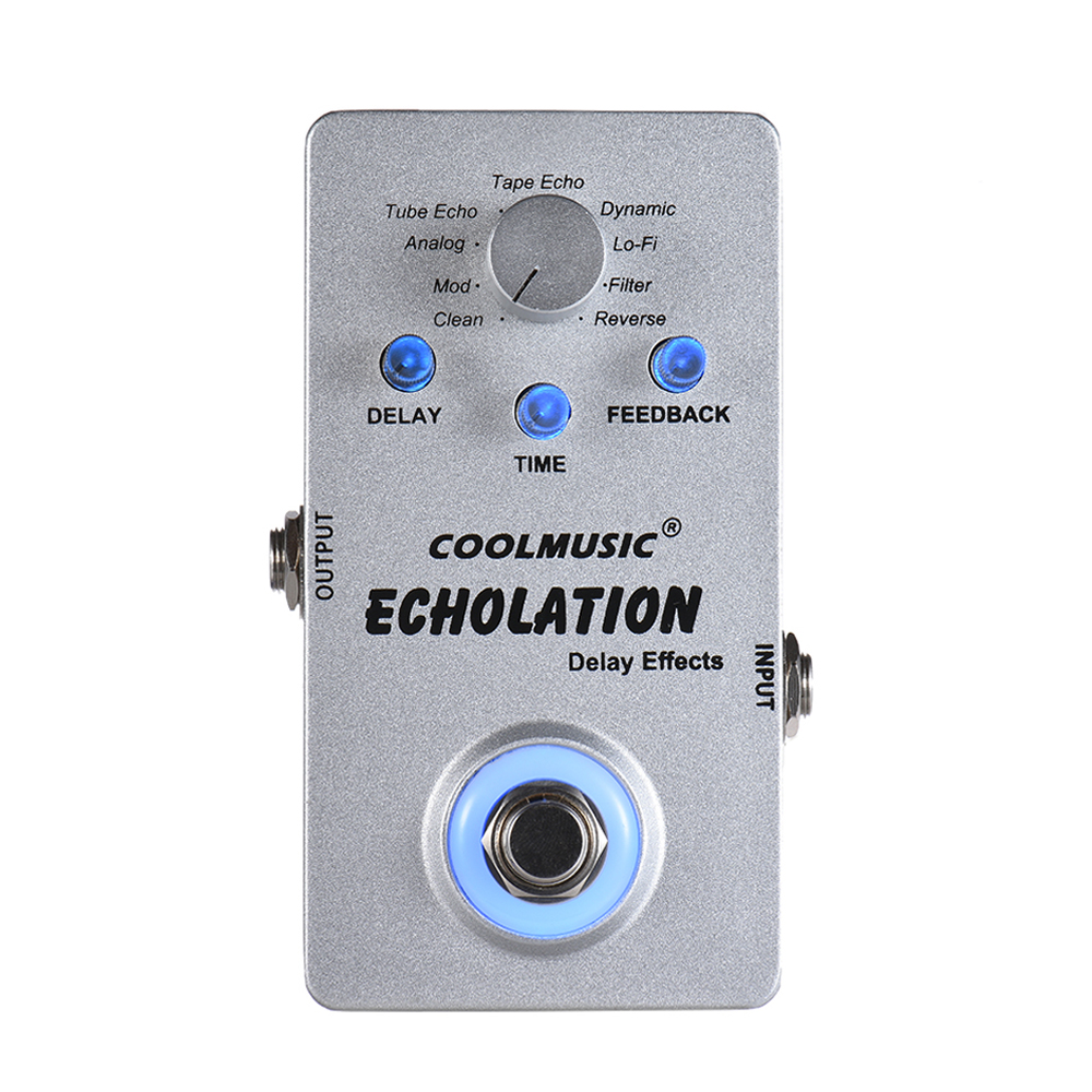 Digital Delay Guitar Pedal Electric Guitar Effect Pedal with 9 Delay Effects True Bypass Guitar Parts