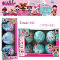 3 6 Pcs Lot LOL Dolls LQL Pet Surprise Egg Baby Girls Dress Up Magic Ball