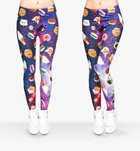 Горячие Продажи 3D Печати Женщины Леггинсы Calzas Tayt Mujer Galaxy Питания Фитнес Брюки Сексуальная Легинсы Мягкие Jeggings Мода Legins Девушки