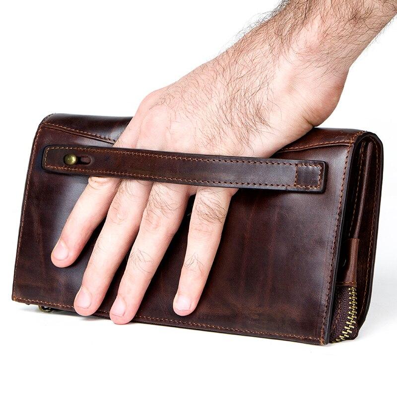 ติดต่อผู้ชายคลัทช์ RFID ของแท้หนังผู้ชายยาวกระเป๋าสตางค์ความจุสูง multi card กระเป๋าสตางค์ชาย porte carte กระเป๋า-ใน กระเป๋าสตางค์ จาก สัมภาระและกระเป๋า บน AliExpress - 11.11_สิบเอ็ด สิบเอ็ดวันคนโสด 2