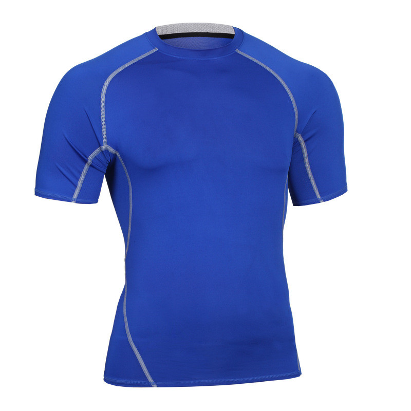New Men Compression T-shirts Fitness Slimming Fit  Perspiration Bodybuilding Elastic Breathable Fashion Exercise Tops Shirts