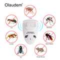 EU Plug Electro Magnetic Ultrasonic Pest Repeller for Ants Roaches Spiders Mosquitoes and More Insects Accessory Bundles MK1368