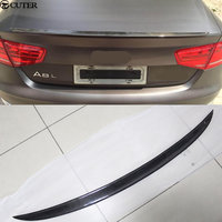 A8 car body kit Carbon Fiber Rear Trunk Wing Spoiler for Audi A8 12-15