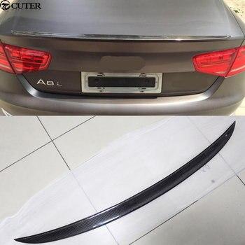 A8 car body kit De Fibra De Carbono da Asa Traseira Tronco Spoiler para Audi A8 12-15