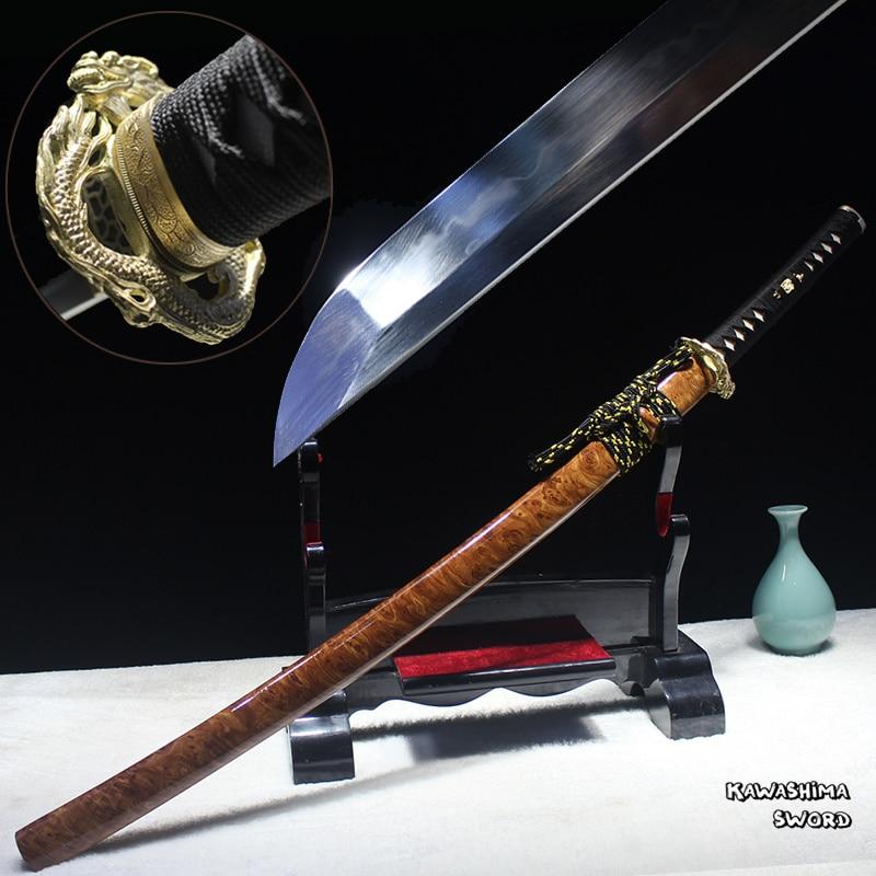 Free Shipping Handmade Japanese Katana T10 Steel Clay Temper Real Blade Full Tang Sharp For Battle
