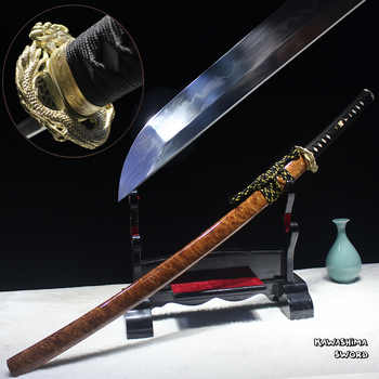 Free Shipping Handmade Japanese Katana T10 Steel Clay Temper Real Blade Full Tang Sharp  For Battle Samurai Sword-New Arrival - DISCOUNT ITEM  5% OFF All Category