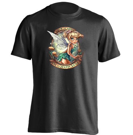 Tinkerbell Those Who Wander Peter Pan Tattoo Pin Up Princess T Shirt