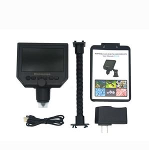 """Image 5 - 600X microscopio usb microscopio video digitale della macchina fotografica 8 LED VGA Microscopio per la saldatura Con 4.3 """"HD Schermo OLED G600"""