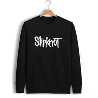 Heavy Metal Music Slipknot Letter Printing Men Sweatshirt Boy Black Sweat Shirts Male Printed Clothing Metallica