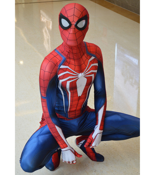 Spider Game PS4 insomniac Spider-Man Costume 3D Print Spandex Halloween Spiderman Cosplay Zentai suit Adult/Kids Free Shipping