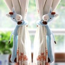 Candice guo милые плюшевые игрушки мультфильм Длинные Руки Ноги Ослик мягкая кукла занавес пряжка украшение подарок на день рождения 1 шт