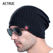 8eff058cb2076 2018 Brand Men s Knit Hat Beanies Men Winter Hats For Men Bonnet Skullies Caps  Women