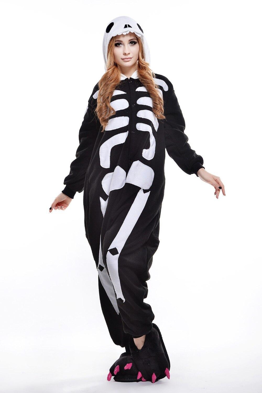 skull costume/ plus size halloween costume for women/ mens onesie