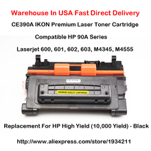 CE390A 90A Series Laser Toner Cartridge Compatible For HP LaserJet 600, 601, 602, 603, M4345, M4555 (10,000 Yield) - Black