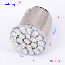 100X1157 P21/4 W P21/5 W 7528 BAY15D 22 3014 SMD 1206 voiture frein à LED arrêt parking feu Automobile Wedge lampe blanc rouge(China)