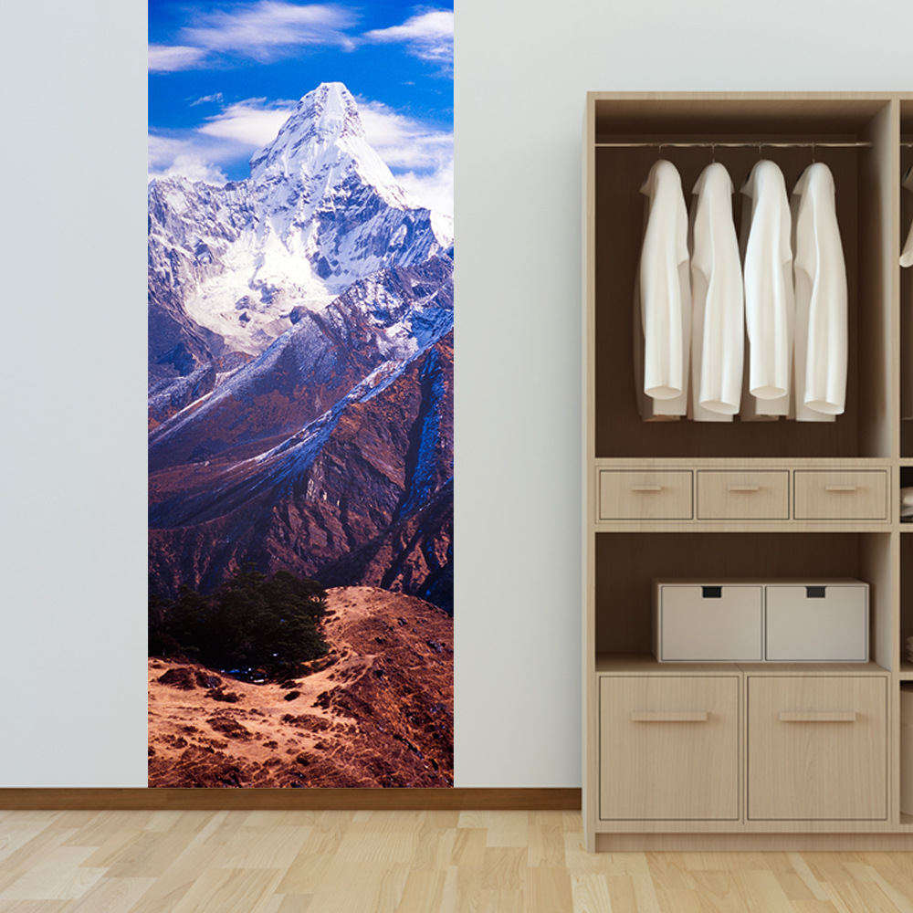 Superb Self Adhesive 3D Door Sticker Nepal Ama Dablam Waterproof Refurbished PVC  Sticker Decoration Home Decor 200x38.5cm 2pcs/set In Wall Stickers From Home  ...