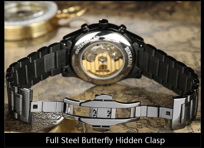 Horloges Heren 2015 BINKADA Army Horloges Volledig Staal Sport - Herenhorloges - Foto 4