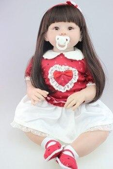 New Design 70cm Silicone Reborn Baby Dolls Boneca Reborn Realista Fashion Dolls For Princess Children Birthday Gift Bebes Reborn 2