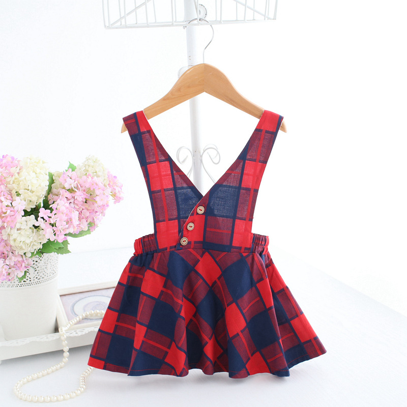Baby Newborn Jumper Baby Jumper Dress Buffalo Check Red Plaid Dresses Festive