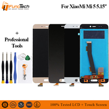 NO Logo For Xiaomi Mi 5 LCD Screen Touch Digitizer With Frame Assembly Replacement Mi5 Display