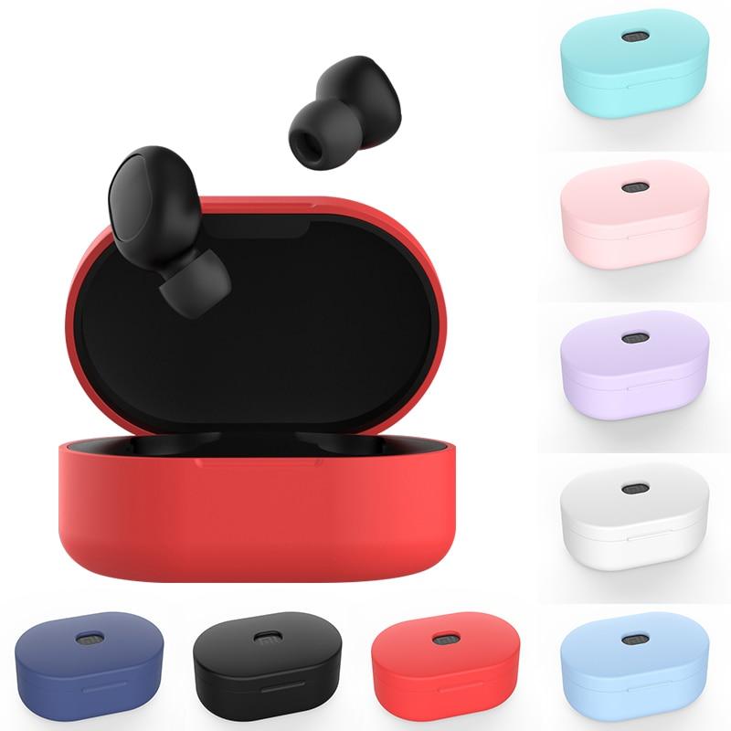 Coloful silicone tpu casos para redmi airdots bluetooth sem fio fone de ouvido caixa de carregamento à prova de choque acessórios saco para xiaomi redmi