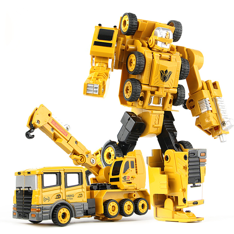 Image 4 - 2 in 1 Alloy Engineering Transformation Robot Car Deformation Toy Metal Alloy Construction Vehicle Truck Assembly Robot For Kid-in Diecasts & Toy Vehicles from Toys & Hobbies