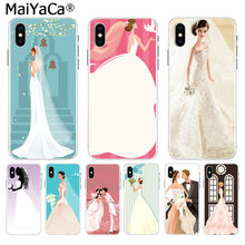 MaiYaCa Beautiful bride in white wedding dress Luxury High-end phone case for iphone 11 pro 8 7 66S Plus X 10 5S SE XS XR XS MAX(China)
