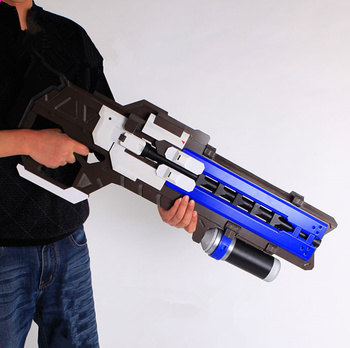 [TOP] Large size simulation OW Game Hero Soldier 76 Prop gun D.va Custom Prop Pulse gun Weapon cosplay Toy collection model gift