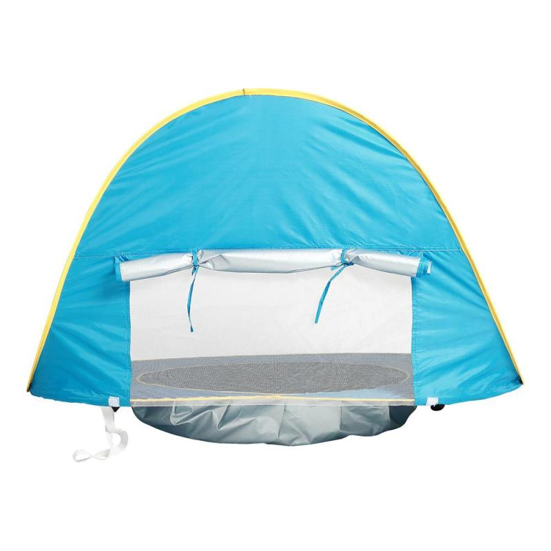 Children Waterproof Pop Up Mosquits Tent Outdoor Beach Uv-Protecting Mosquito Netting Sun Shelter With Pool Kids Camping #E