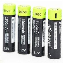 4 шт./лот ZNTER 18650 3,7 V 1500mAh USB перезаряжаемая батарея 18650 Lipo для частей передатчика RC