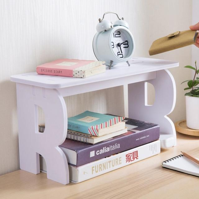 Multifunction DIY wooden storage shelf desktop coffe cup storage ...