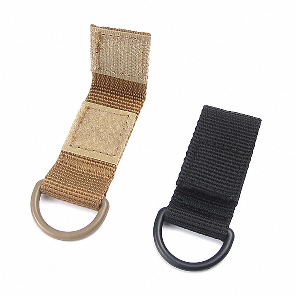 Molle Belt Clip Webbing Outdoor Hiking Webbing Belt D-Ring Backpack Strap Travel Bag Kit Carabiner Keychain Buckle Hook Clasp