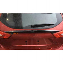 Car styling ABS chrome Rear tail Spoiler side triangle wing window bezel trim Stick 1pcs For Nissan Qashqai j11 2016 2017 2018