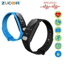 Zucoor Smart Браслет Pulse Мониторы пульсометр Фитнес ЭКГ ppg RB66 Приборы для измерения артериального давления активности Sport Band электроники браслет