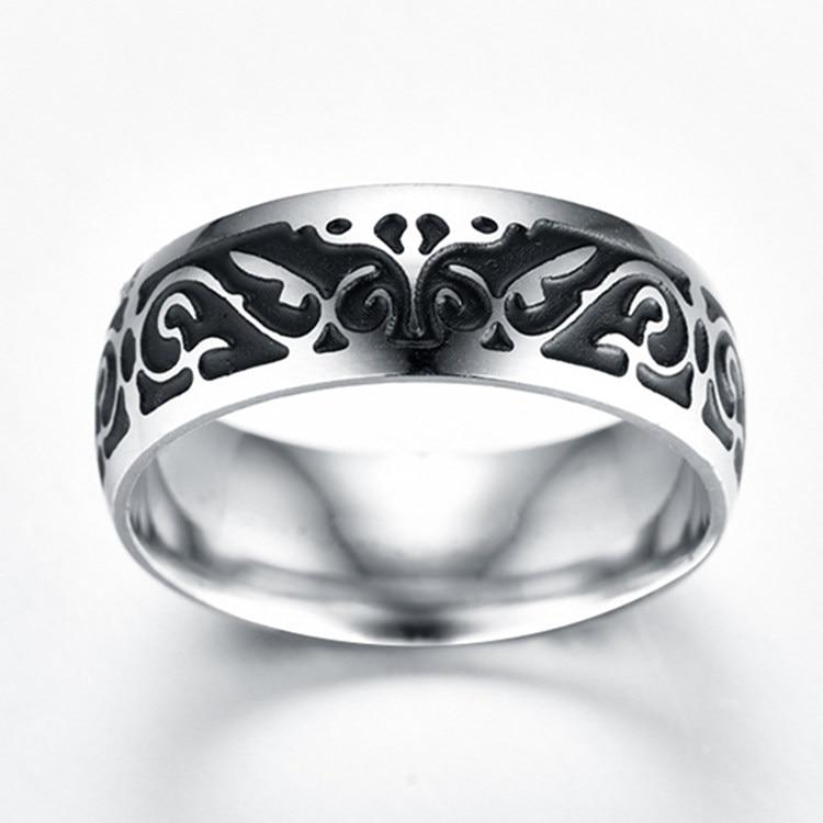 Titanium V65 Vintage Dekorativni uzorak prsten od nehrđajućeg - Modni nakit - Foto 6