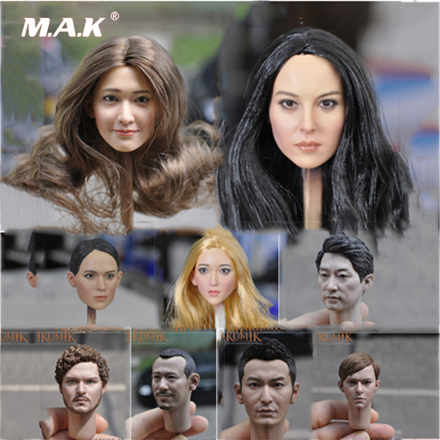 1//6 Scale Accessories Custom Head Sculpt Carving Female KUMIK 13-96 Hair