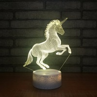 7 Color Change Cute Unicornio Led 3D Night Lights Unicorn Party Touch Usb Table Lamp Novelty AnimalLuminaria Baby Kids Toys Gift