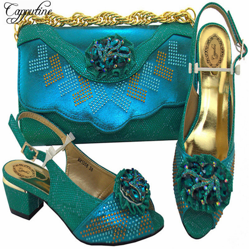 Capputine New Arrival Italian Ladies Shoes And Bags To Match Set Nigeria Wedding Shoes And Bag Afircan Ladies Shoes MM10583 esspero canopy