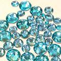 1000 unids 2mm-6mm Tamaño de La Mezcla de Cristal Lago Azul Ronda Resina No Hotfix Decoración Del Arte de Los Granos De Uñas Maquillaje N08