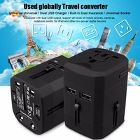 Universal USB Travel Power Adapter All In One Wall Charger AC Power Plug Adapter For USA