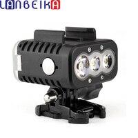 LANBEIKA For Gopro Waterproof Underwater 50M Scuba Diving Fill LED Light For GoPro Hero 6 5 4 3+ SJCAM SJ5000 SJ6 SJ7 Sports Cam