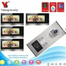 """YobangSecurity Видео дверной телефон """" дюймовый видео дверной звонок Дверной домофон RFID Контроль доступа с функцией записи видео фото"""