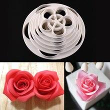 6 шт. помадка в форме розы, форма для торта, форма для печенья, форма для приготовления пищи, инструменты для украшения торта, сделай сам, форма для торта, кухонные аксессуары