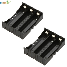 Hot Selling 1pcs DIY Black Storage Box Holder Case For 3 x 18650 3.7V Rechargeable Batteries Feb02