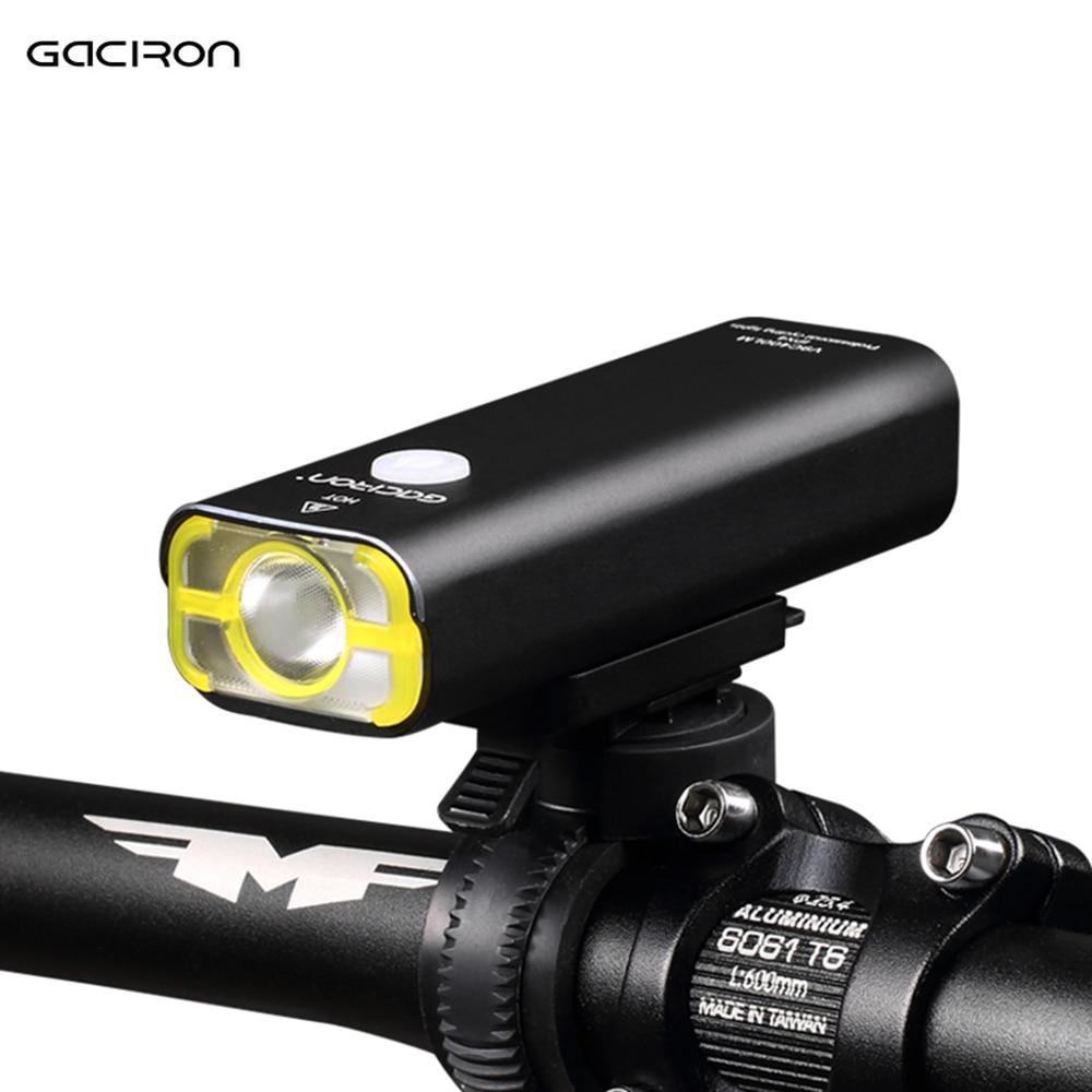 GACIRON USB Rechargeable Waterproof Bike Front Handlebar Cycling LED Light Flashlight Torch Headlight