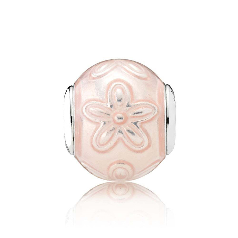 Happiness Essence Collection Charm Pink Enamel Beads 100% 925 Sterling Silver Fit pandora charms silver 925 original