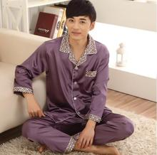 2017 Special Offer Rushed Full Sexy Male pajamas set Hombre Invierno Men's Summer Pajamas Long Sleeved Thin  Suit
