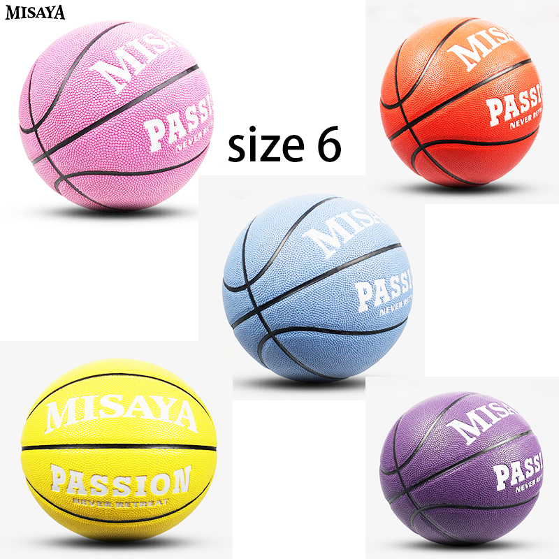 Colourful Women Basketball Indoor Size 6 GW6x Non-slip Balls Outdoor PU Leather Wear-resistant Basket Ball Training Equipment